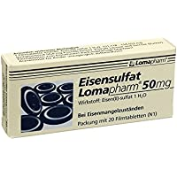 EISENSULFAT Lomapharm 50 mg Filmtabletten 20 St Filmtabletten preisvergleich bei billige-tabletten.eu
