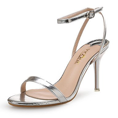 LvYuan Da donna-Sandali-Matrimonio Formale Serata e festa-Club Shoes-A stiletto-Di pelle PU (Poliuretano)-Argento Dorato Gold