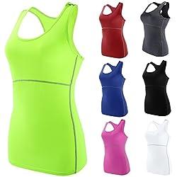 Camisetas de Yoga Para Mujeres en varios colores