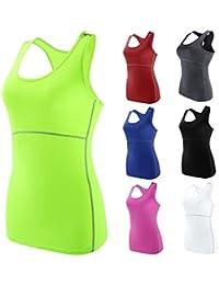 Haute-élastique Confort Vêtement de sport Femme Pro Débarteur pour Jogging Fitness sans Manches Course Yoga
