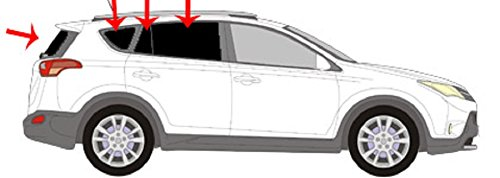 Autosonnenschutz Scheibentönung RAV 4 -5 Türer Bj. ab 2013 Art.27436-7 (Sonnenblende Für Rav 4)