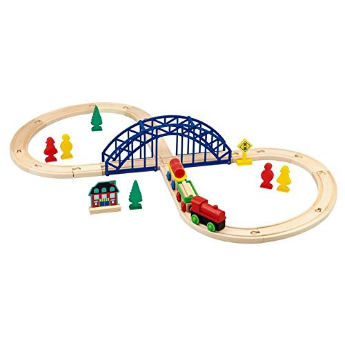 Wooden Train Set 35 Pieces