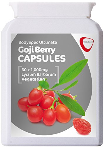 BodySpec Goji Berry Capsules 60 x 1,000 mg (250 mg of 4:1 extract) -