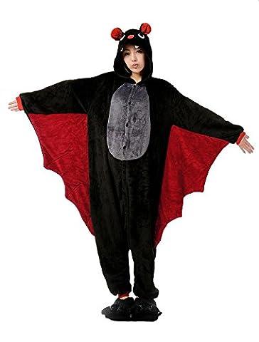 Adulte Bat Sexy Costumes - Nicetage Pyjama Animal Chauve-Souris Unisexe Costume Combinaison