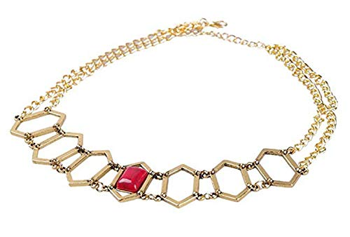 Melisandre Kostüm - qingning Thrones Melisandre Halskette Cosplay Rubin Necklace Zubehör Kostüm