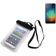 Universal Bolsa de playa / impermeable para lluvia / cubierta de nieve de 16 cm x 10 cm, por ejemplo, para Xiaomi Redmi Note 3 (32 GB). Cubierta protectora transparente contra el polvo, la arena, la lluvia y aguas poco profundas para su teléfono celular, Smartphone, GPS, GPS, monederos, dinero en efectivo, objetos de valor. Sensible al tacto material. Su Xiaomi Redmi Note 3 (32 GB) se mantiene plenamente operativo, mientras que en el caso. Dimensiones: 16 cm x 10 cm | protecion Beachbag caso