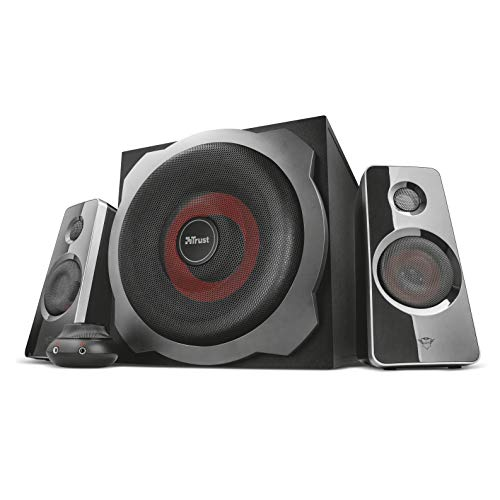 Trust Tytan GXT-38 Set Altoparlanti 2.1 con Subwoofer, per Gaming, Nero