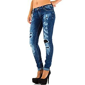 Damen Jeans, DESTROYED HÜFT STRETCH SKINNY JEANS, KL-J-Q1703