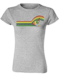 Surf Wave SURFING Ladies Camiseta Para Mujer T-Shirt Retro Style