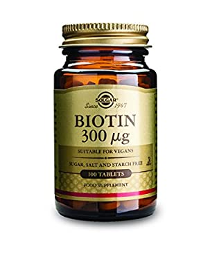 Solgar 300 mcg Biotin Tablets - Pack of 100 by Solgar