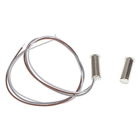 Gazechimp 3-Draht Magnet Kontaktschalter Türkontakt Sensor Alarm für Fenster Tür Silver