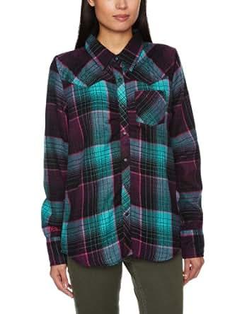 O'Neill Peridot Long Sleeve Shirt Women's Sweatshirt Purple AOP Small