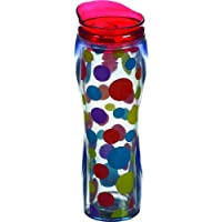 Boston Warehouse Insulated Travel Mug, Primary Scatter Dots, 14-Ounce by Boston Warehouse