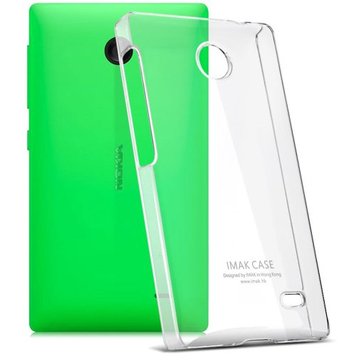 Heartly Imak Crystal Transparent Flip Thin Hard Bumper Back Case Cover For Nokia X X+ Plus Dual Sim Android  available at amazon for Rs.349