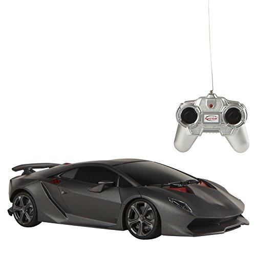 RASTAR - 1 remote control car: 24, Lamborghini Sesto, Black (ColorBaby 41147)