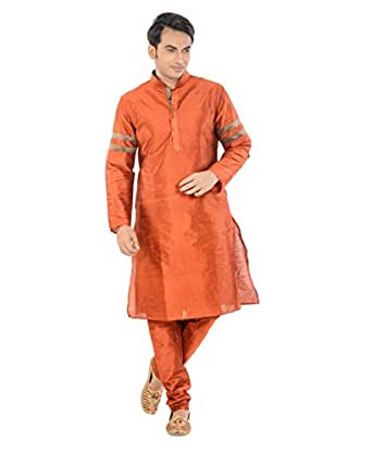 Deyann Mens Dupion Regular Fit Kurta and Pyjama Set194