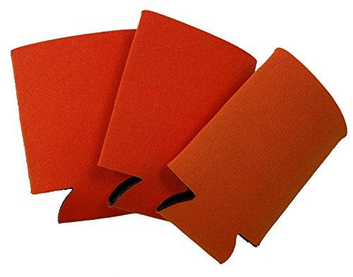 Blanko können, Kühler Drink Coolies, klappbar Isolatoren, 6Pack, 12, Pack, 25Pack, Monogramme, DIY Projekte, Hochzeiten, Partys, Halloween, orange, braun Orange