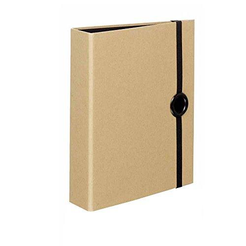 Rössler 1316422003 - Ringbuch für DIN A5, mit Griffloch, Nature black (A5 Binder)