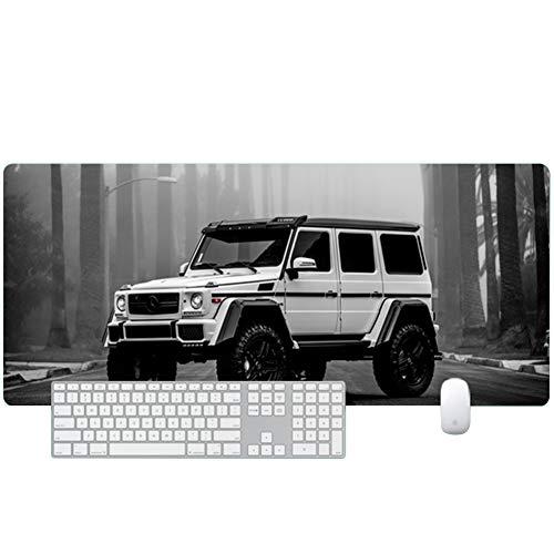 DRAGYI Mercedes-Benz Car Series Großes Mauspad, wasserfest, für Computer/Büro/Spiele, Nähtisch, Internet-Cafes, Gaming, Anti-Rutsch-Tastatur-Pad, 16, 700x300 -