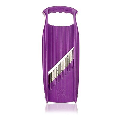 Börner Welle-Waffel XXL PowerLine in violett - Pommesschneider aus Gemüse