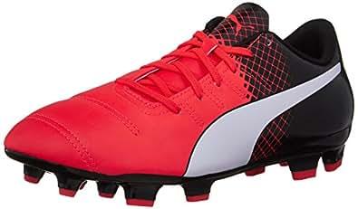 Puma Men s Evopower 4.3 Tricks Fg Soccer Shoe Red Blast/Puma White 12 D(M) US