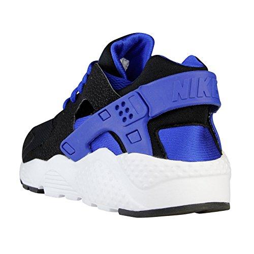 Nike Huarache Run (GS), Chaussures de Running Entrainement Garçon, Noir Multicolore - Negro / Azul / Blanco (Black / Lyon Blue-White-White)