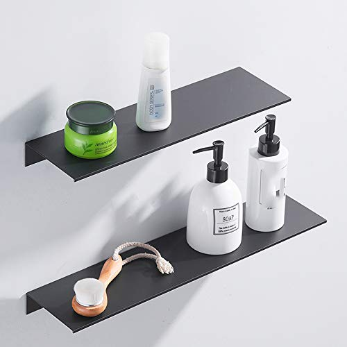 Badregal Ohne Bohren EuropäIschen Stil Einfache Ablage Schwarz Wand Kosmetik Regal Umweltschutz Raum Aluminium Rostet Nicht Schwarze-wand-regal