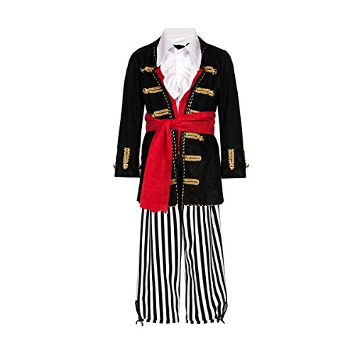 Kostümplanet® Piraten-Kostüm Deluxe für Kinder Faschingskostüme Jungen Kostüm Pirat Größe - Deluxe Pirat Kind Kostüm