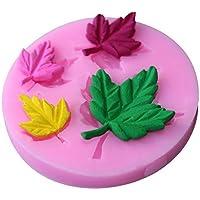 Torta molde herramienta-fondant molde cortador de torta-silicona Sugarcraft molde pastel herramientas de decoración hoja de arce