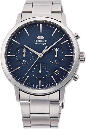 Orient Herren Chronograph Quarz Uhr mit Edelstahl Armband RA-KV0301L10B -