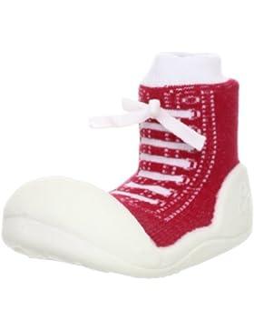 Attipas Sneakers Red - ergonomische Baby Lauflernschuhe, atmungsaktive Kinder Hausschuhe ABS Socken Babyschuhe...