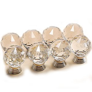 8 x 30mm Clear Cut Crystal Glass Door Knobs Kitchen Cabinet Drawer Handle New produced by Surepromise - quick delivery from UK.