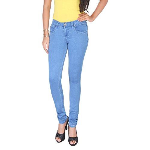 Clench Women's Full Length Mid Rise Denim Jeans