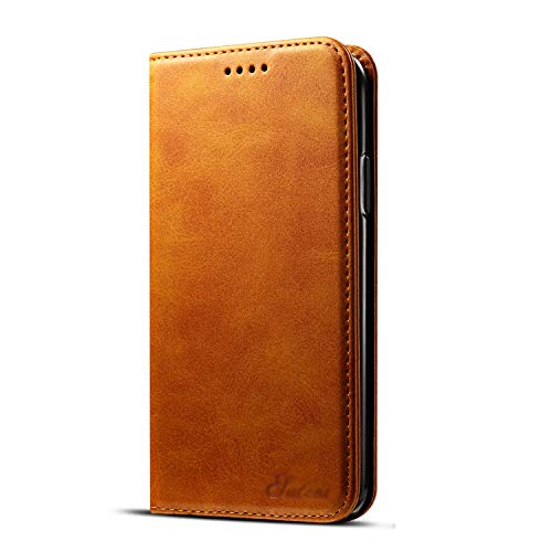 iPhone 6/7/8/X/XS/XR/XS MAS Mobile Holster Flip Magnetic Ads Card Wallet Wallet, iPhone X/XS, khaki