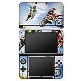 Nintendo 3 DS XL Case Skin Sticker aus Vinyl-Folie Aufkleber Motocross Motorrad Motorsport