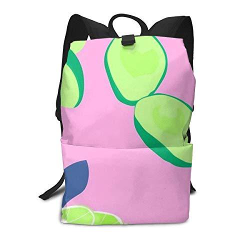 Avocado Lemon Backpack Middle für Kinder Jugendliche Schulreisetasche -