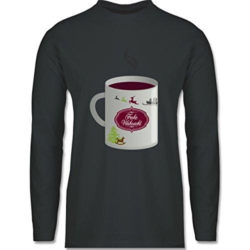 Weihnachten & Silvester - Glühwein Frohe Weihnachten - Longsleeve / langärmeliges T-Shirt für Herren Anthrazit