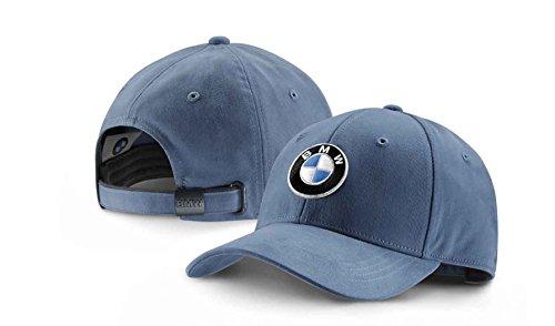 bmw-genuine-collection-emblem-peaked-cap-adjustable-hat-steel-blue-80162411102