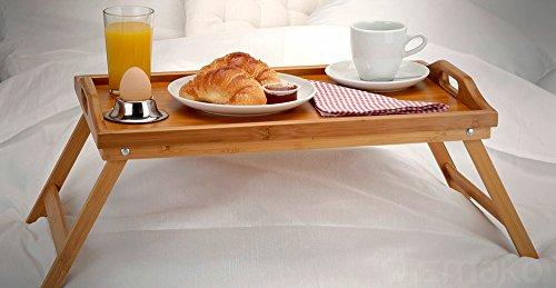 Table pour ordinateur portable en bambou petit déjeuner plateau repas lit-plateau bois de bambou