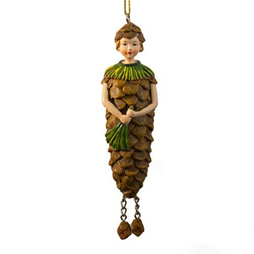 Tannenzapfen Elfen-Feefigur - Deko Figur zum Hängen Blumenfigur Skulptur