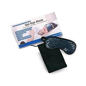 Time2Sleep Gel-Augenmaske für Wärme- und Kältetherapie – Hochwertige Schlafmaske gegen Migräne, Augenringe, Blepharitis – Bequeme Schlafbrille für Damen und Herren – Entspannungsmaske Inkl. Tasche
