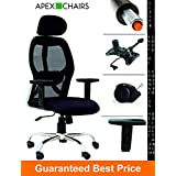 APEX Chairs Apollo Chrome Base HIGH Back Office Chair Adjustable ARMS