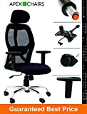 #8: APEX Chairs Apollo Chrome Base HIGH Back Office Chair Adjustable ARMS
