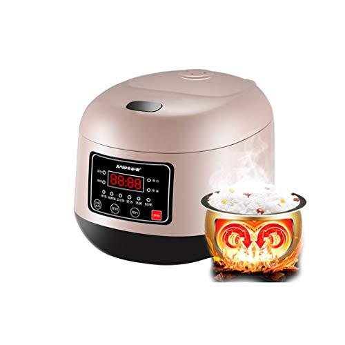 Mysida Olla arrocera Hogar 3 litros Espesar Mini Pequeño Inteligente Multifuncional 1-2 Personas Cocina en el Dormitorio 3-4 (Color : Pink)