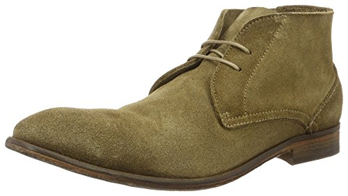 Hudson London Herren Osbourne Suede Dip Tobacco Chukka Boots, Braun (Tobacco), 44 EU