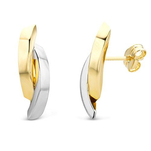 Miore Ohrringe Damen Bicolor Gelbgold/Weißgold 14 Karat/585 Gold