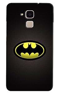Omnam Printed Batman Logo Cover Yellow for Huawei Honor 5C