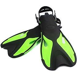 Luckiests BOIHON Natation Palmes Enfants Adultes réglable Flippers Pied de plongée Professionnelle Submersible Ouverte plongée en apnée Chaussures