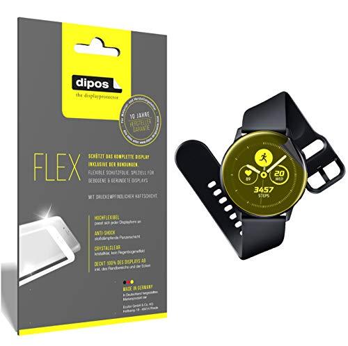 dipos I 3X Schutzfolie 100% passend für Samsung Galaxy Watch Active Folie (Vollständige Displayabdeckung) Displayschutzfolie
