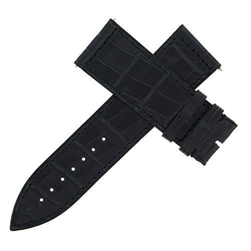 franck-muller-23-f-24-22-mm-cuir-veritable-alligator-noir-bracelet-de-montre